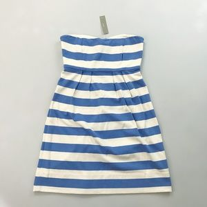 J.CREW Bold Striped Strapless Dress